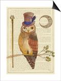 Steampunk Owl II Posters by Elyse DeNeige