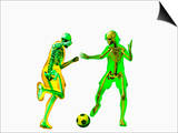 Soccer Players Showing Skeletons Poster by Carol & Mike Werner