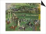 Dufy: Race Track, 1928 Art by Raoul Dufy
