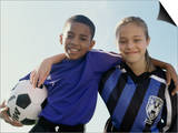 Portrait of a Boy And Girl From a Soccer Team Prints