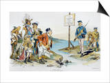 Monroe Doctrine,1896 Prints by Victor Gillam