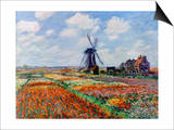 Monet: Tulip Fields, 1886 Posters by Claude Monet