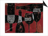 Wine Selection III Red Posters by Daphne Brissonnet