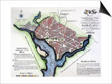 Washington, Dc, Plan, 1792 Posters by Andrew Ellicott