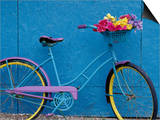 A Bicycle Against a Wall Posters