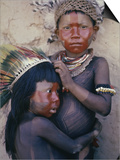Caipo Indian Children, Xingu River, Brazil Print