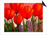 Tulips and Hyacinths Prints by John Newcomb