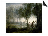 Orpheus Leading Eurydice From the Underworld Prints by Jean-Baptiste-Camille Corot