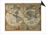 A New and Accurat Map of the World, 1651 Prints by John Speed