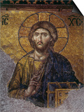 Head of Christ, Mosaic from Apse at Haghia Sophia Istanbul, 12th century AD Posters
