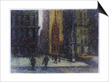 Wall Street Blizzard, New York City Prints by Patti Mollica