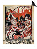 Russia: Soviet Poster, 1920 Print by Nikolai Kogout