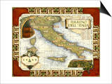 Wine Map of Italy Posters