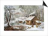Home in the Wilderness Posters by  Currier & Ives
