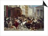 Wall Street: Bears & Bulls Print by William Holbrook Beard