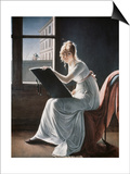 Young Woman Drawing, c.1801 Prints by Marie Denise Villers