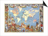 Map: British Empire, 1886 Print by Walter Crane