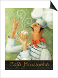 Cafe Moustache II Print by Lisa Audit