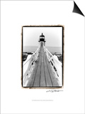 Marshall Point Light, Maine Poster by Laura Denardo