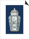 Asian Urn in Blue and White I Affiches par  Vision Studio