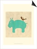 Best Friends - Hippo Poster by Chariklia Zarris