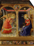 The Annunciation, from C. 1440 Altarpiece of Convent of Montecarlo Posters by Fra Angelico