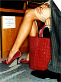 Red Handbag and Sexy Legs Posters by Arthur Belebeau
