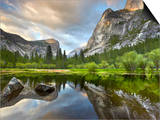 Granite Cliffs and Domes in Yosemite Valley Seen from Mirror Lake, Yosemite National Park Posters by Patrick Smith