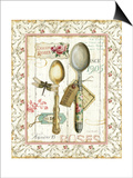 Rose Garden Utensils II Poster by Lisa Audit
