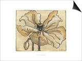 Tone on Tone Petals V Print by Slocum Nancy