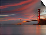 Fog over the Golden Gate Bridge at Sunset, San Francisco, California, USA Art by Patrick Smith