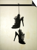 High Heels Ruffle Silhouette Poster by Graeme Montgomery