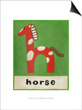 H is for Horse Prints by Chariklia Zarris
