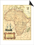 Africa Map Prints by  Vision Studio
