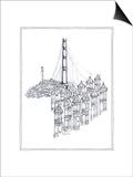 Golden Gate Posters by Avery Tillmon