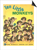 Ten Little Monkeys Posters