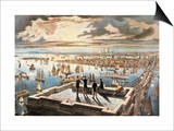 New York Harbor, c1882 Prints by  Currier & Ives
