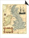 British Isles Map Prints by  Vision Studio