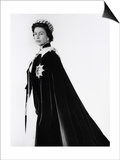 Queen Elizabeth II in Robes and Wearing the Order of the Garter, England Prints by Cecil Beaton