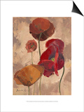 Textured Poppies II Posters by Marietta Cohen
