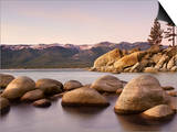 Granite Rocks, Sand Harbor State Park, Lake Tahoe, Nevada, USA Prints by Patrick Smith