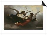 Une Âme Au Ciel (A Soul in Heaven), 1878 Prints by William Adolphe Bouguereau
