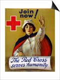 Red Cross Poster, C1917 Print