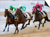 Horse Racing on the Beach, Sanlucar De Barrameda, Spain Art by Felipe Rodriguez
