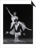 Rudolf Nureyev and Margot Fonteyn in Giselle, England Print by Anthony Crickmay