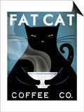 Cat Coffee Print by Ryan Fowler