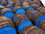Painted Whiskey Barrels, Scotland Prints by Chris Linder