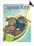 Captain Kitty Print