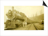 Northern Pacific Locomotive, Point Defiance, Tacoma, WA, ca. 1914 Prints