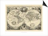 Vintage World Map Prints